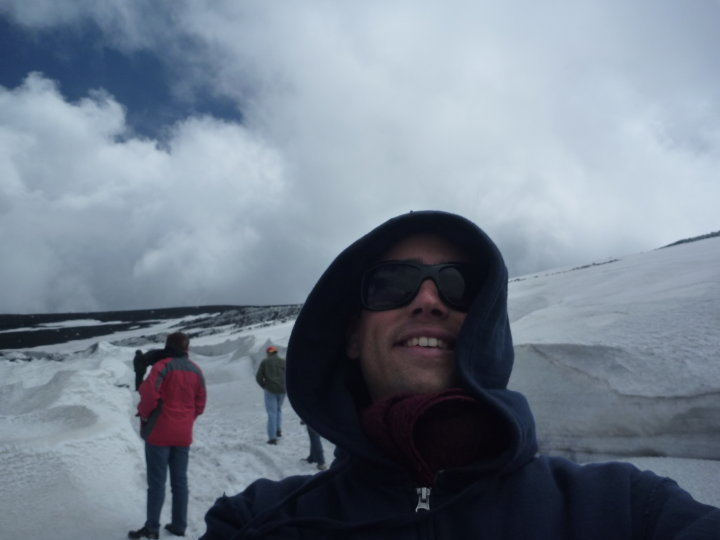 Standing at the top of Mount Etna